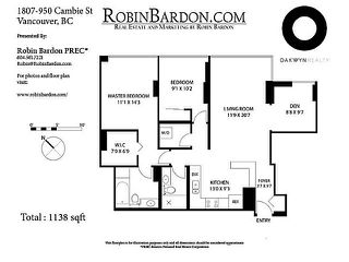 Photo 14: # 1807 950 CAMBIE ST in Vancouver: Yaletown Condo for sale (Vancouver West)  : MLS®# V1109233