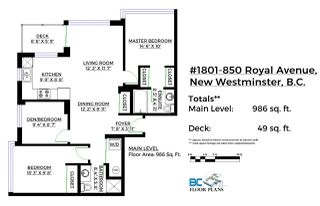 Photo 20: 1801 850 ROYAL AVENUE in New Westminster: Downtown NW Condo for sale : MLS®# R2128664