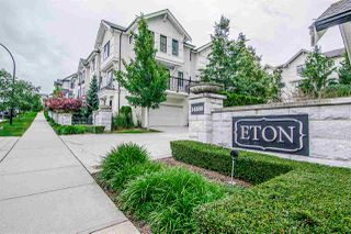 "Photo 1: 4 14888 62 Avenue in Surrey: Sullivan Station Townhouse for sale in ""ETON"" : MLS®# R2473034"