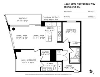 """Photo 29: 1103 5508 HOLLYBRIDGE Way in Richmond: Brighouse Condo for sale in """"RIVER PARK PLACE III"""" : MLS®# R2528967"""