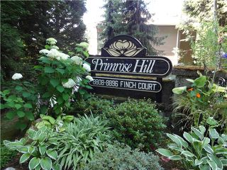 "Photo 1: 8840 FINCH Court in Burnaby: Forest Hills BN Townhouse for sale in ""PRIMROSE HILL"" (Burnaby North)  : MLS®# V1075894"