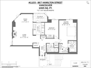 Photo 20: 1103 867 HAMILTON STREET in Vancouver: Downtown VW Condo for sale (Vancouver West)  : MLS®# R2413124