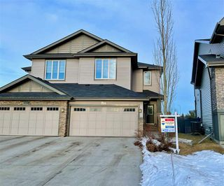 Photo 1: 3853 GALLINGER Loop in Edmonton: Zone 58 House Half Duplex for sale : MLS®# E4224643
