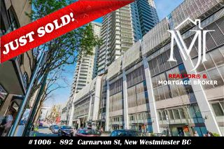 """Photo 1: 1006 892 CARNARVON Street in New Westminster: Downtown NW Condo for sale in """"AZURE 2 - PLAZA 88"""" : MLS®# R2515738"""