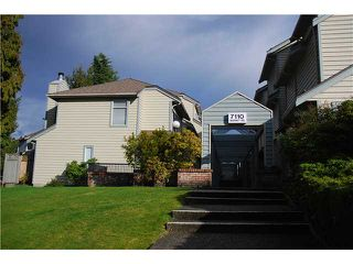 "Main Photo: 4 7110 BARNET Road in Burnaby: Westridge BN Townhouse for sale in ""Harbour Ridge Terrace"" (Burnaby North)  : MLS®# V932632"