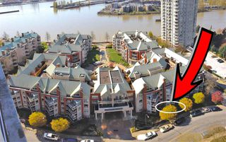 "Photo 1: 102 1240 QUAYSIDE Drive in New Westminster: Quay Condo for sale in ""TIFFANY SHORES"" : MLS®# R2263673"