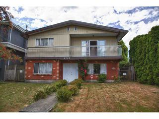 Photo 1: 5725 SOPHIA Street in Vancouver: Main House for sale (Vancouver East)  : MLS®# V968687