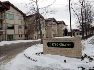 Photo 1: 307E 1780 Grant Av in Winnipeg: River Heights Condominium for sale (1D)  : MLS®# 1703121