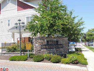 "Photo 1: 54 8655 159TH Street in Surrey: Fleetwood Tynehead Townhouse for sale in ""SPRINGFIELD COURT"" : MLS®# F1218324"