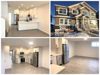 Photo 1: 285 Orchards Boulevard in Edmonton: Zone 53 House Half Duplex for sale : MLS®# E4185397