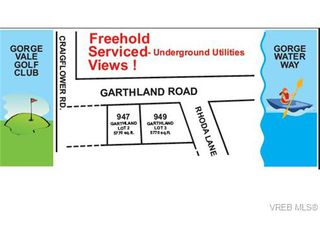 Photo 1: 949 Garthland Rd in VICTORIA: Es Gorge Vale Land for sale (Esquimalt)  : MLS®# 648338