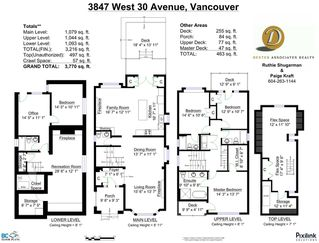 Photo 20: 3847 W 30TH AVENUE in Vancouver: Dunbar House for sale (Vancouver West)  : MLS®# R2038967