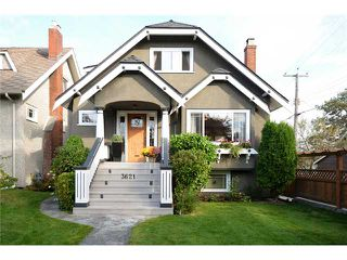 Photo 1: 3621 W 20TH AV in Vancouver: Dunbar House for sale (Vancouver West)  : MLS®# V1089715