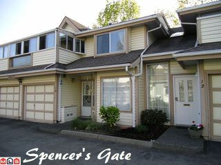 "Photo 1: 13 9965 151ST Street in Surrey: Guildford Townhouse for sale in ""Spencer's Gate"" (North Surrey)  : MLS®# F1213452"