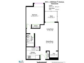 """Photo 10: 311 1450 E 7TH Avenue in Vancouver: Grandview VE Condo for sale in """"RIDGEWAY PLACE"""" (Vancouver East)  : MLS®# V980975"""