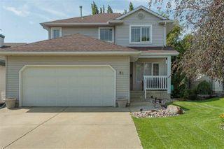 Main Photo: 81 Oakridge Drive: St. Albert House for sale : MLS®# E4168634