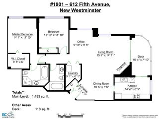 Photo 21: # 1901 612 FIFTH AVE. in New Westminster: Uptown NW Condo for sale : MLS®# V1081231
