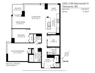 Photo 19: 1502 1199 MARINASIDE CRESCENT in Vancouver: Yaletown Condo for sale (Vancouver West)  : MLS®# R2268201