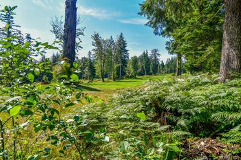 great views of the Quadra Island Golf Club from this lot!
